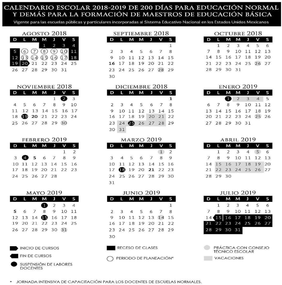 Calendario Vacaciones.Calendario Escolar 2019 2020 La Economia