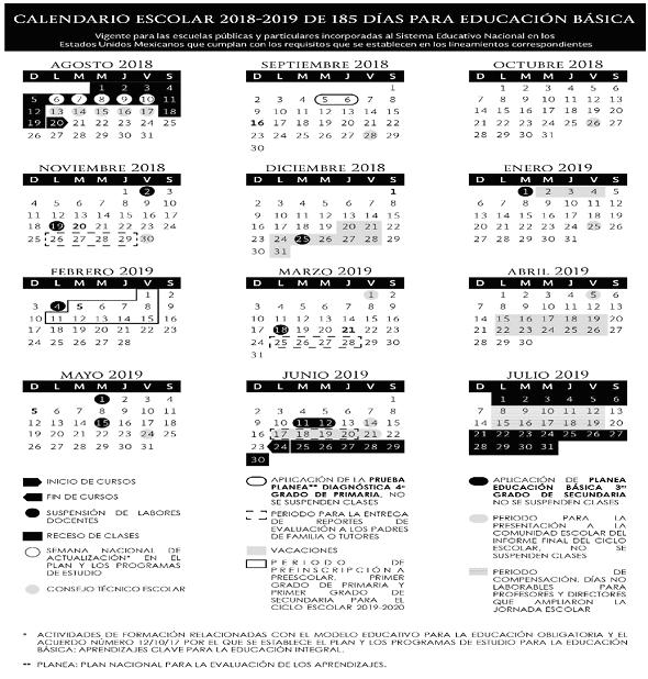 Calendario Escolar 2020 Colombia.Calendario Escolar 2019 2020 La Economia