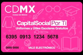 9e9abe2f46d La Secretaría de Desarrollo Social del gobierno capitalino entrega de forma  gratuita las tarjetas electrónicas para la compra de uniformes y útiles  para el ...