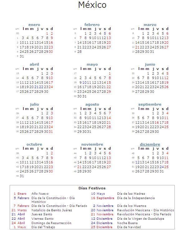 Calendario laboral 2011