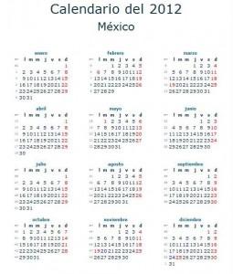 Calendario laboral 2012
