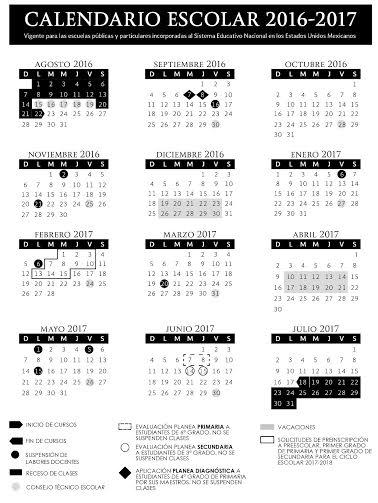 El ciclo escolar 2016-2017 se llevará a cabo entre las siguientes