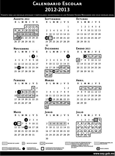 calendario sep 2012-2013