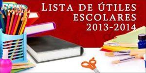 lista útiles escolares 2013-2014 SEP
