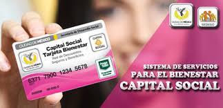tarjeta capital social
