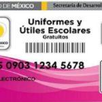 Tarjeta para útiles y uniformes escolares